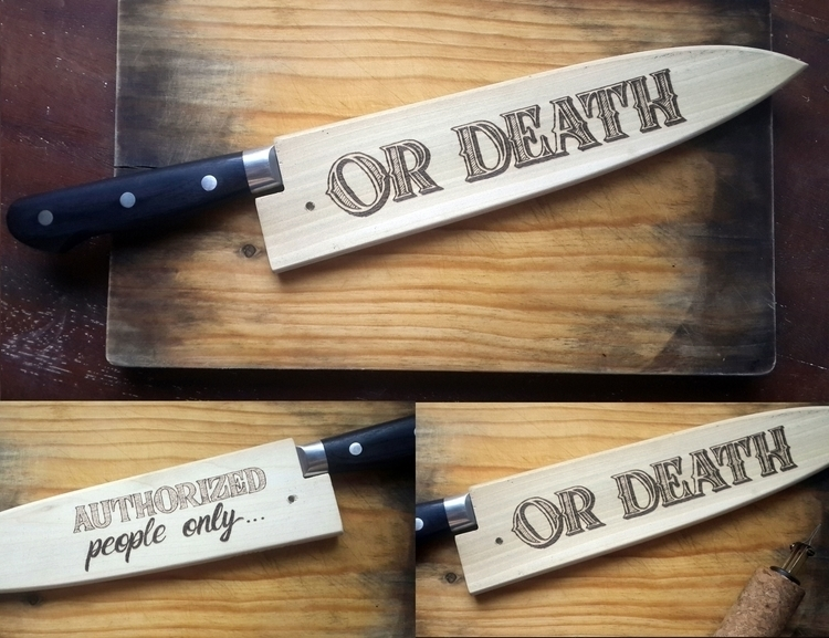 Pyrography lettering knife wood - gibara | ello