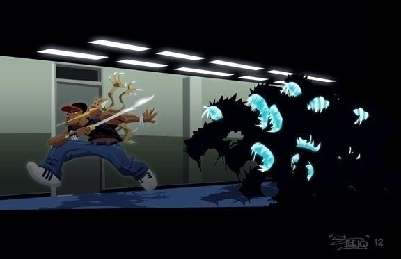 Attack Block - illustration, fanart - khalidrobertson | ello