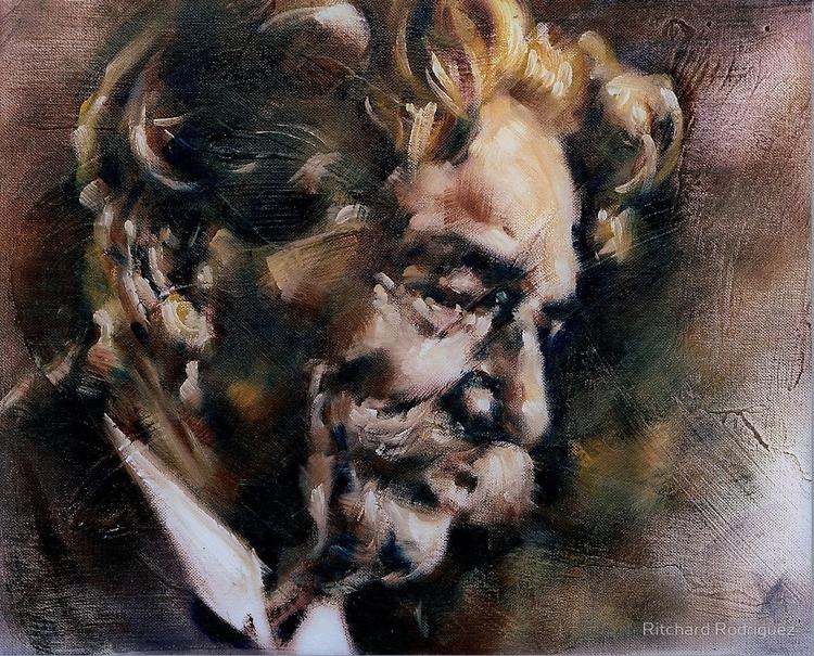 Portrait Albert Schweitzer, Oil - ritchard27 | ello