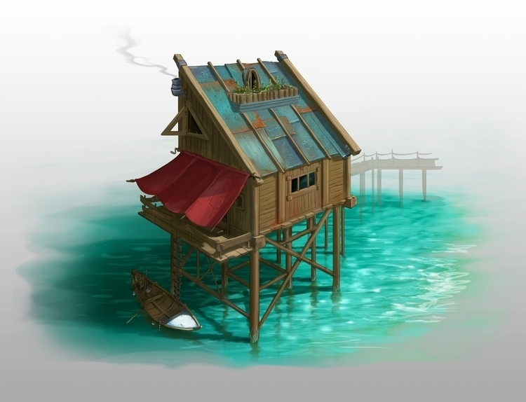 Sea Shelter - conceptart, painting - drazic | ello