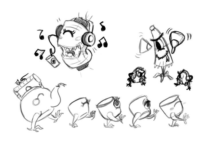 characterdesign, drawing, objectdemons - artbyjenisse | ello