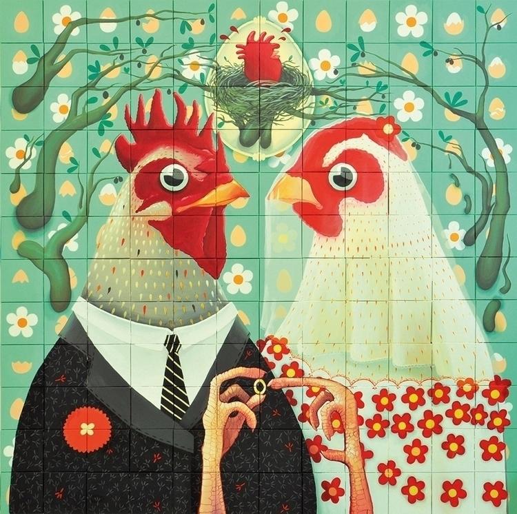 """coccote?"" acrylic canvas, 2014 - kriospecialk | ello"