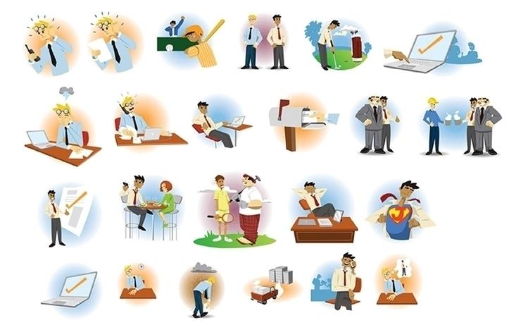Character promotional designs - illustration - khalidrobertson | ello