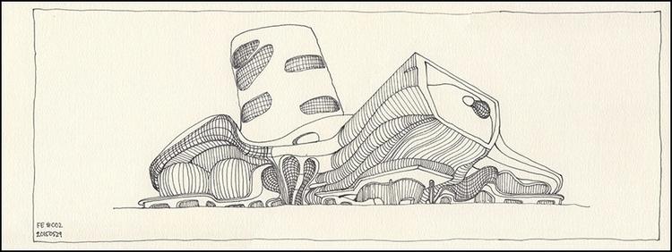 drawing, architecture - alvasondakh | ello