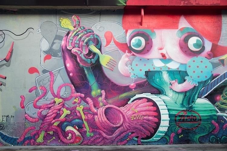 meat lettering - graffiti, streetart - kriospecialk | ello
