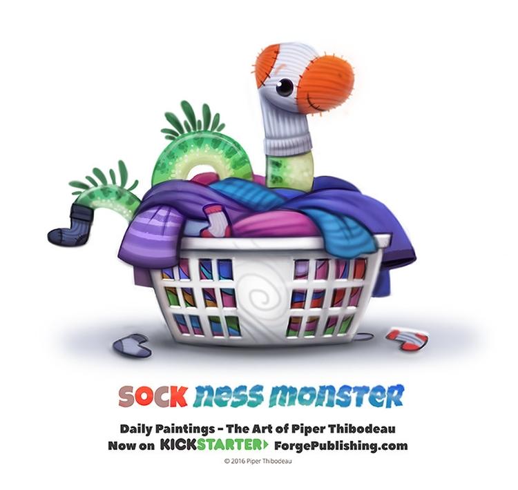Daily 1364. Sock Ness Monster - piperthibodeau   ello