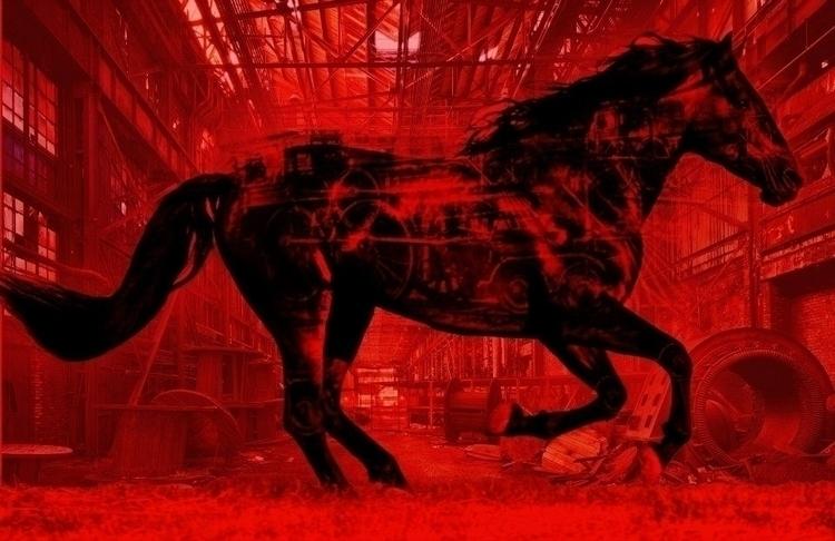 Iron Horse Power - ironhorse, illustration - tjmcollection | ello