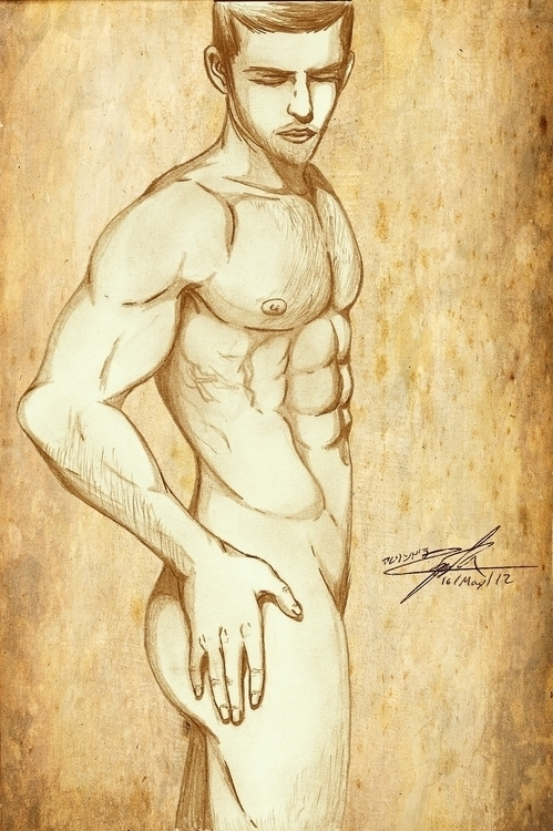 man, drawing, traditionalart - alezart | ello