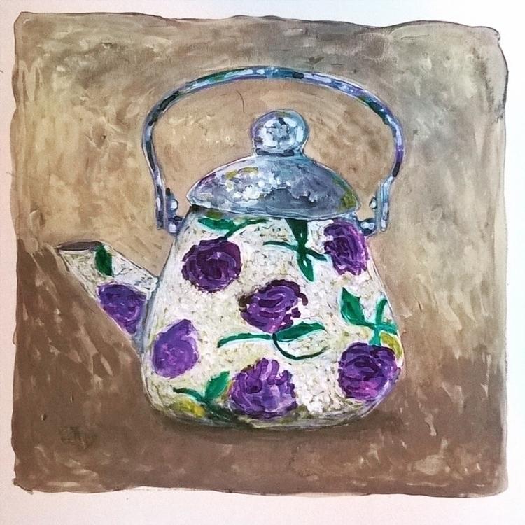 kettle, illustration, painting - theotherhalfofthesky   ello