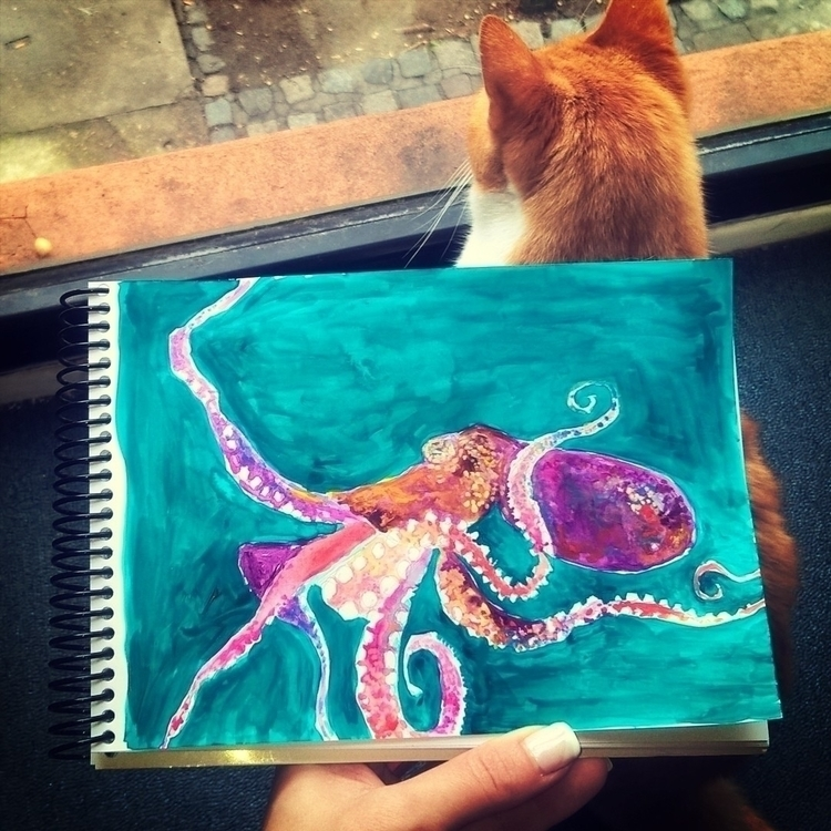 octopus, illustration, animals - theotherhalfofthesky | ello