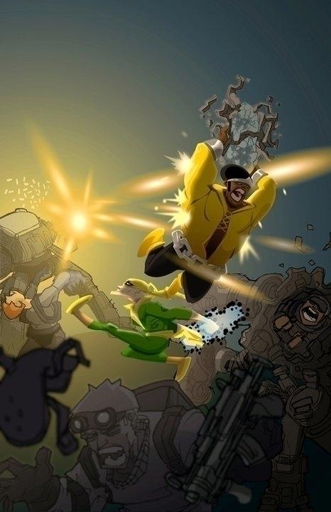 Power Man Iron Fist - illustration - khalidrobertson | ello