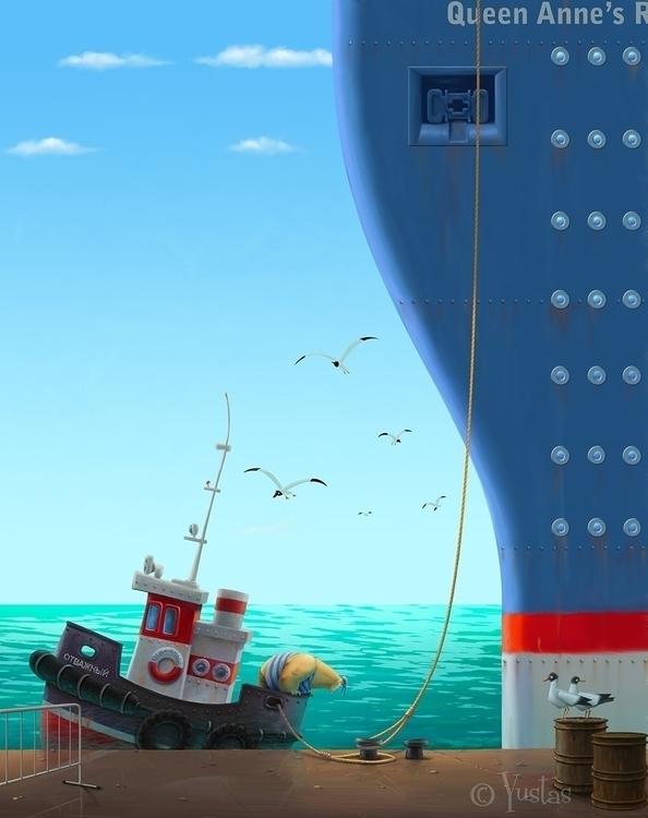 Delicate Art Parking - sea, ship - yustas   ello
