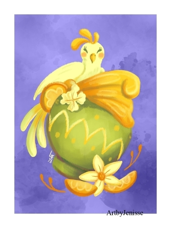 Orange Dole Whip - illustration - artbyjenisse | ello