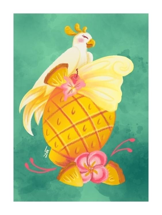 Pineapple Dole Whip - illustration - artbyjenisse | ello
