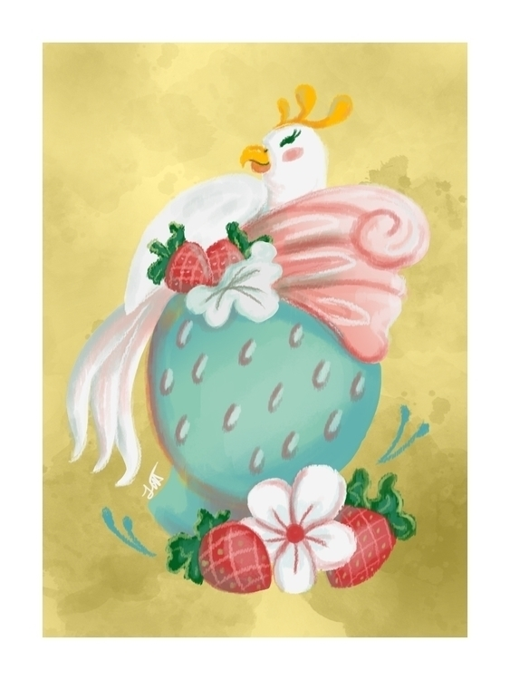Strawberry Dole Whip - illustration - artbyjenisse | ello