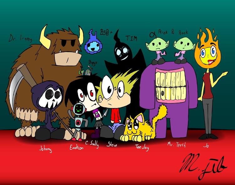 12 + 1 - creatures, monsters, steve - mjib | ello