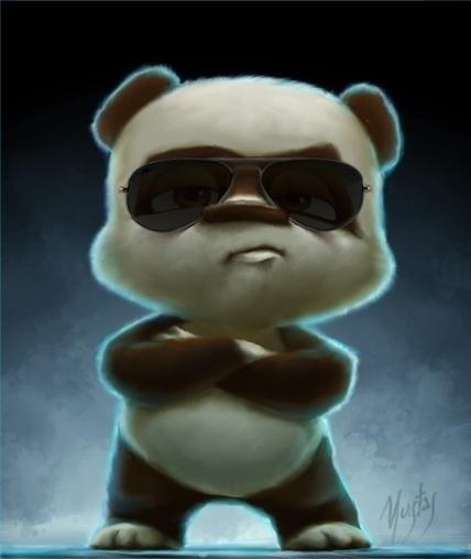 Panda - panda, characterdesign - yustas | ello