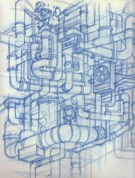 Pipe concept - illustration, sketch - khalidrobertson | ello