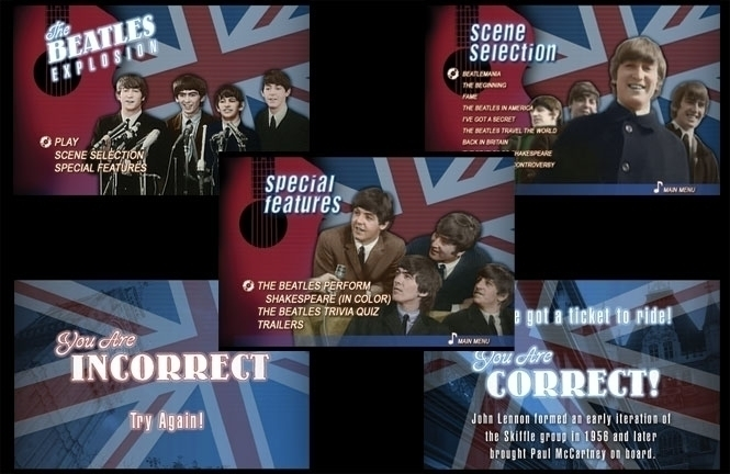 DVD Menus designed Beatles Expl - jasonmartin-1263 | ello