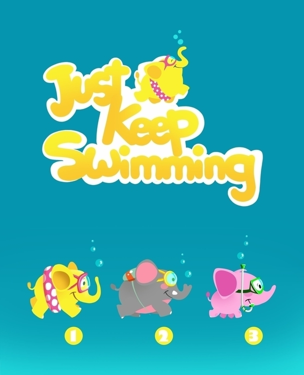 Swimming Mobile Game - gameart, characterdesign - noha-el-gendi | ello