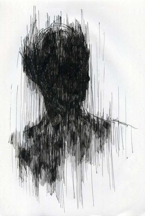 Black portrait 21x29,7 cm Ink p - giorgoschatziagorou | ello