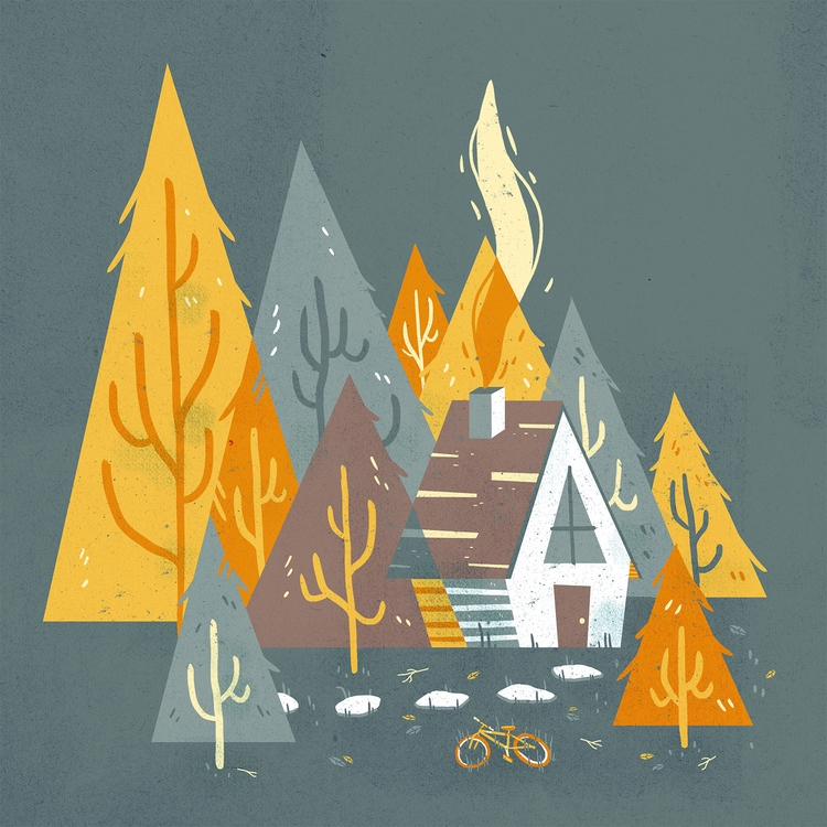 Forest Home - illustration, forest - annmakes | ello