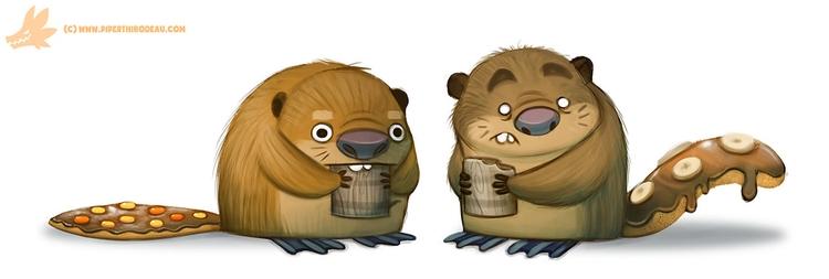 Daily Paint Beaver Tails - 1058. - piperthibodeau | ello