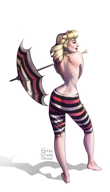 Mrilyn pose - marilynmonroe, illustration - ginarivas | ello