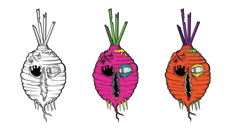 Virtuous Beetroot - illustration - mp-1845 | ello