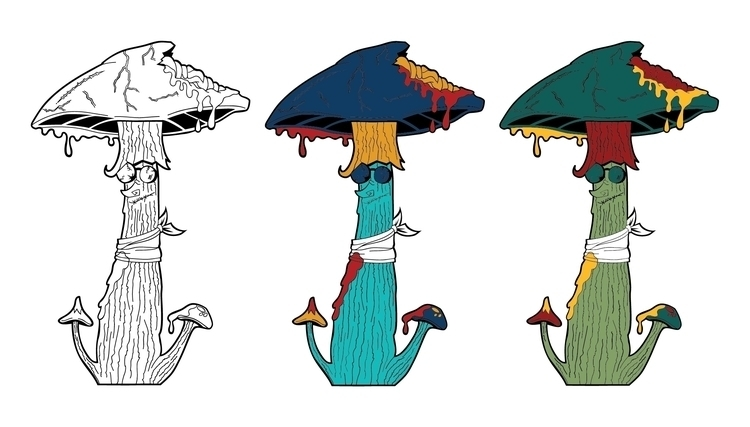 Lovable Shroom - illustration, characterdesign - mp-1845 | ello