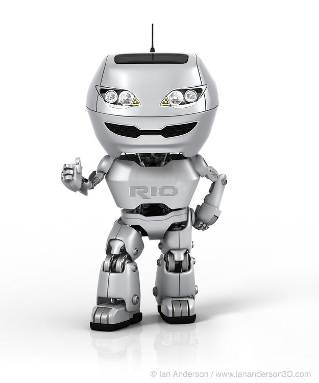 KIA robot - modo, kia, 3d, iananderson3d - iancredible01 | ello