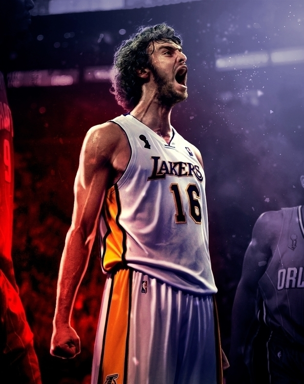 Tribute Pau Gasol - photomanipulation - zarikahuir | ello