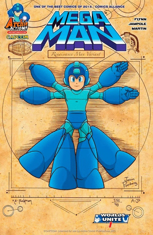 Mega Man Variant Cover. Digital - jasonpiperberg | ello