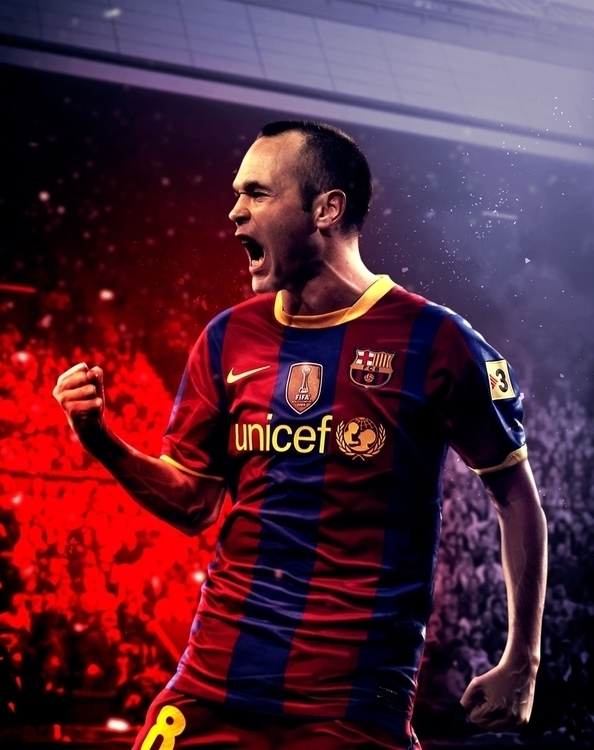 Tribute Iniesta - photomanipulation - zarikahuir | ello