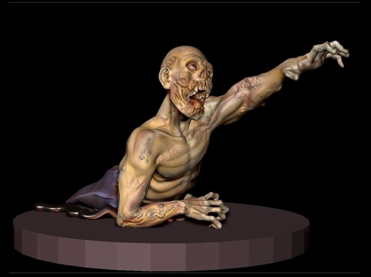 Zombie - zbrush, zombie, sculpture - janderson-7361 | ello