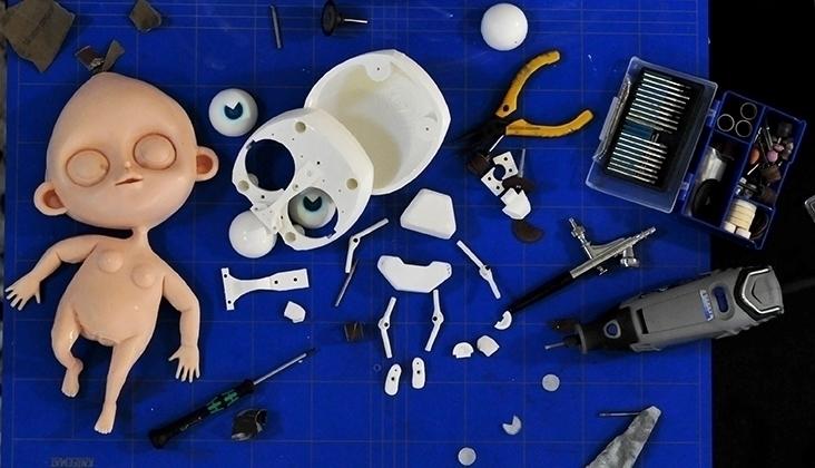 skin skeleton - animation, stopmotion - kriospecialk | ello