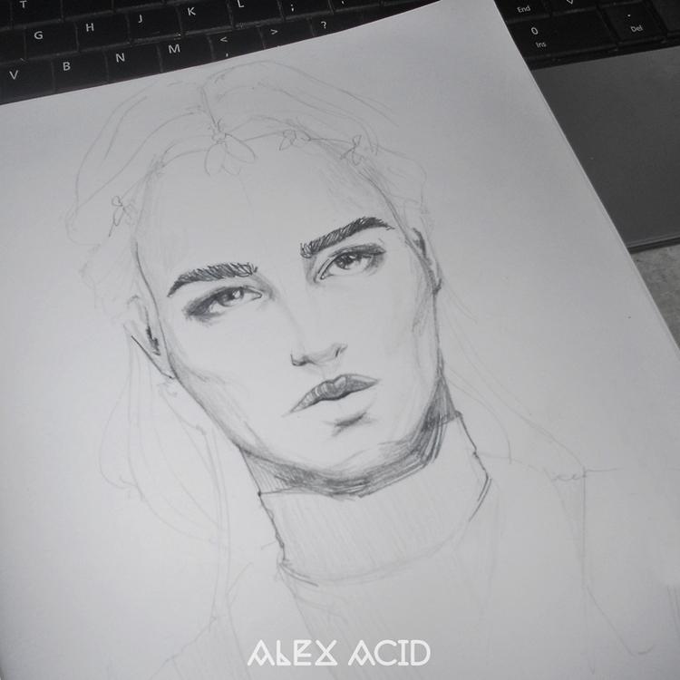 Quick sketch/Versace Beauty Spr - alexacid | ello