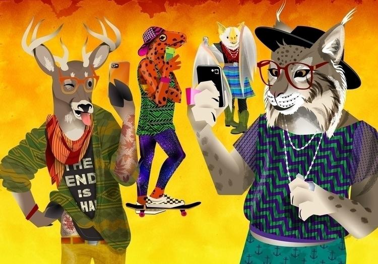 Hipster Animals banner - dynamoe   ello