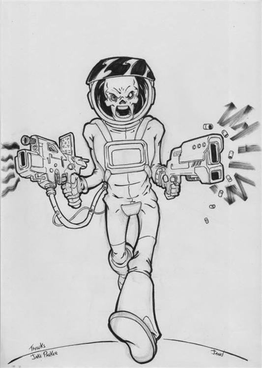 Inktober - pencil ink Skullchas - janderson-7361 | ello