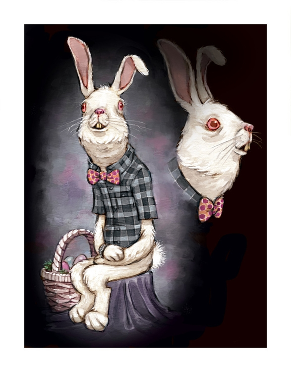 rabbit, illustration, painting - jessicawarrick | ello