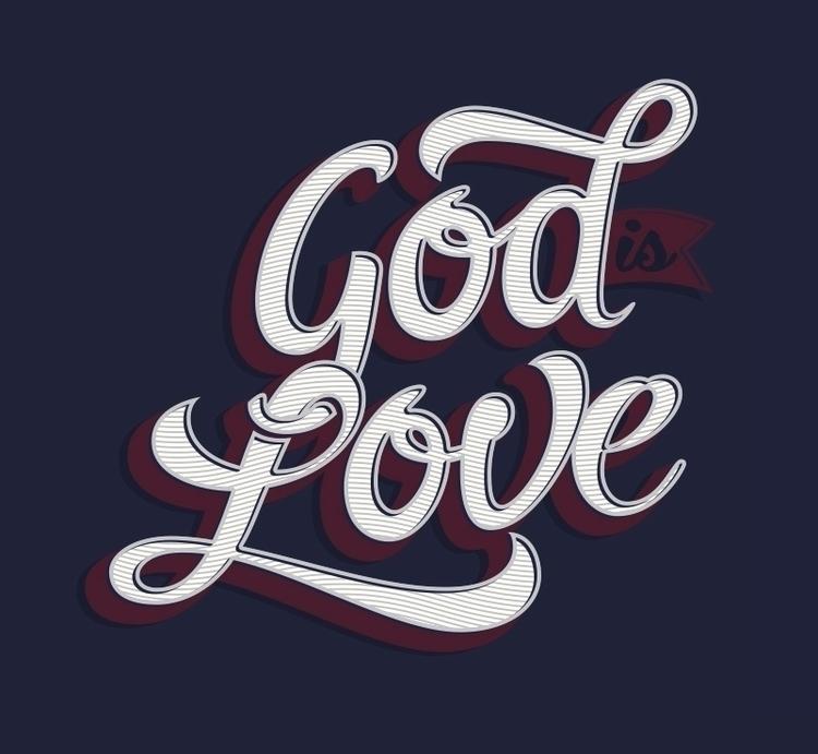 God Love - #lettering, calligraphy - jair-1116 | ello