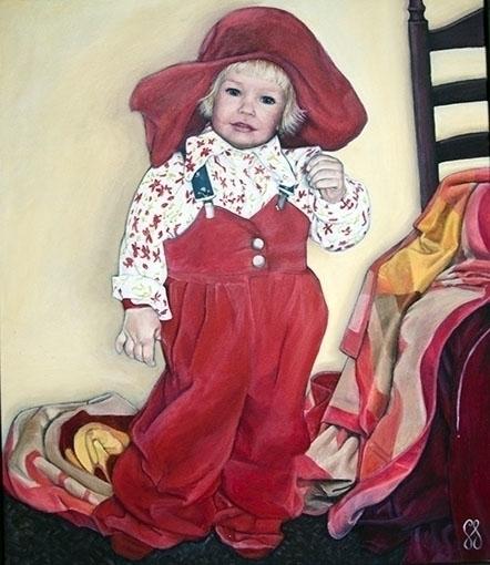 Caroline - painting, child - gemmastekelenburg | ello