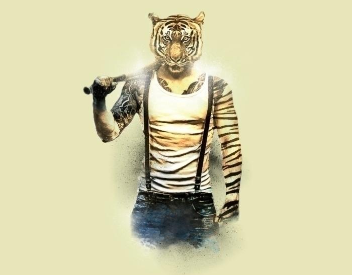 Blizzard Tiger - illustration, tiger - daniac   ello