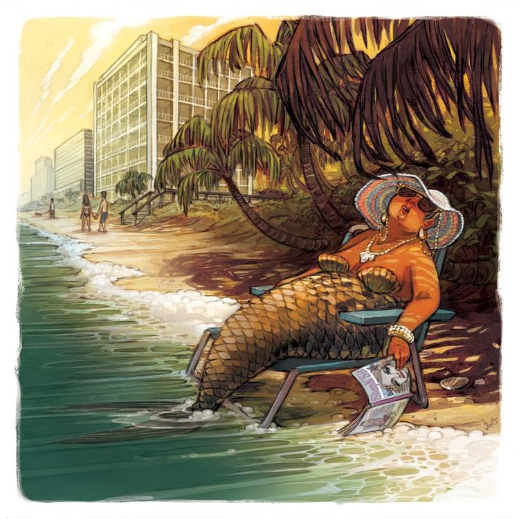 illustration, humor, mermaid - jessicawarrick | ello