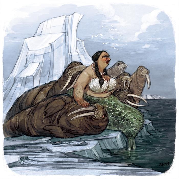 illustration, watercolor, walrus - jessicawarrick | ello