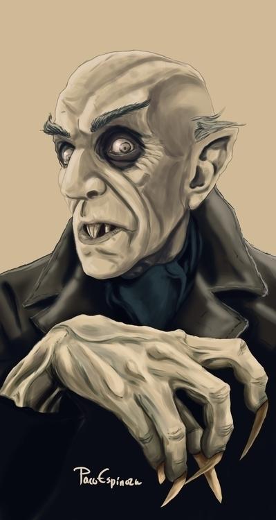 Nosferatu - illustration, digitalillustration - nubig | ello