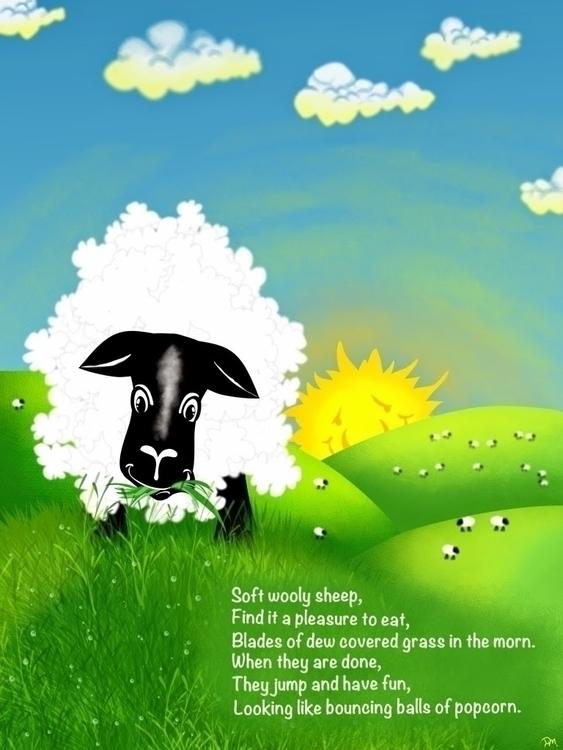 Fluffy Sheep- fun stretch kidli - dmerchen | ello