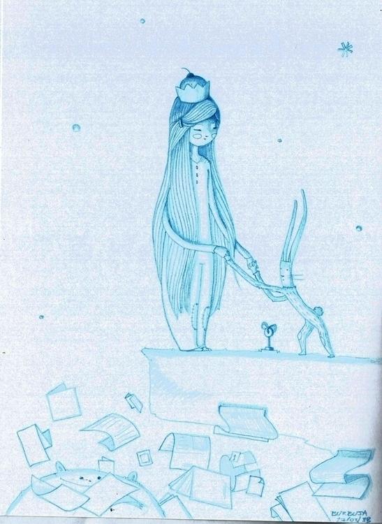 Dreams...March 2015 - illustration - burbuja-8409 | ello