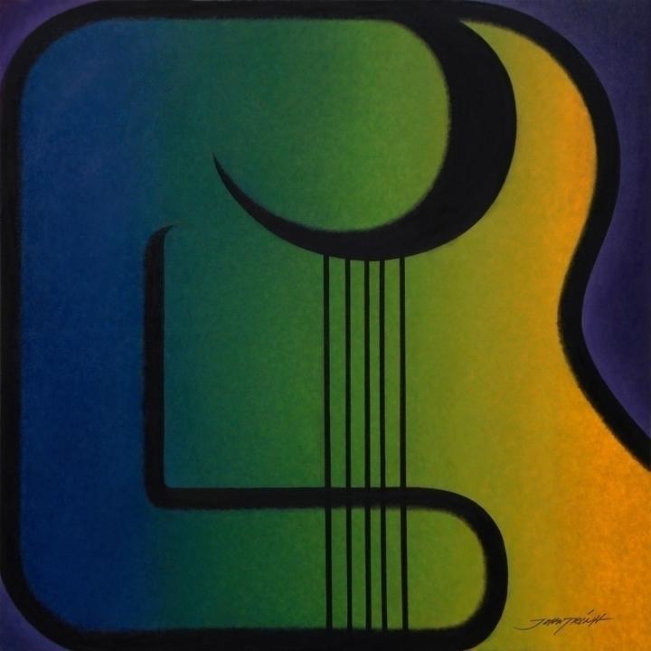 Guitar Player. Acrylics canvas - johntrinh | ello