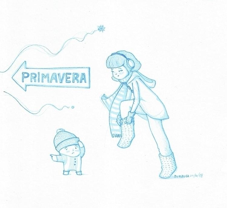 Spring...atchís - illustration, sketchbook - burbuja-8409 | ello